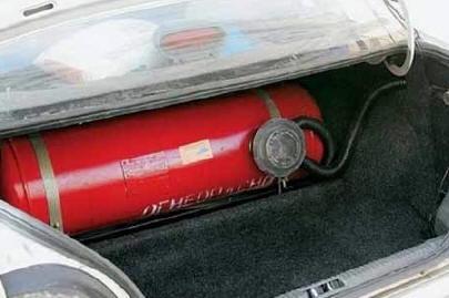 Машина на газу.