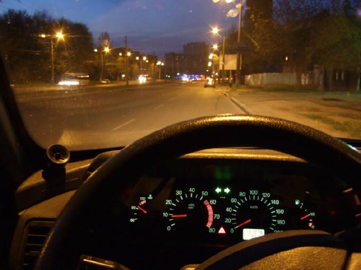 опасно водить по ночам